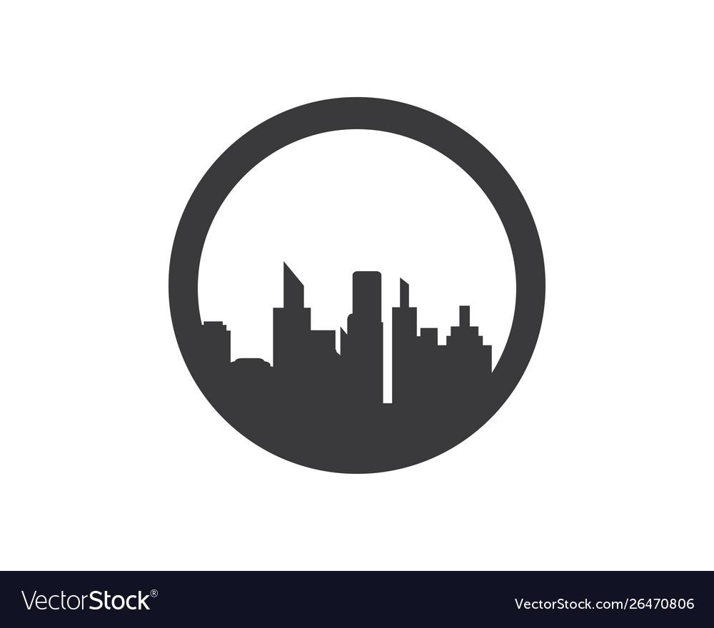 City skyline silhouette