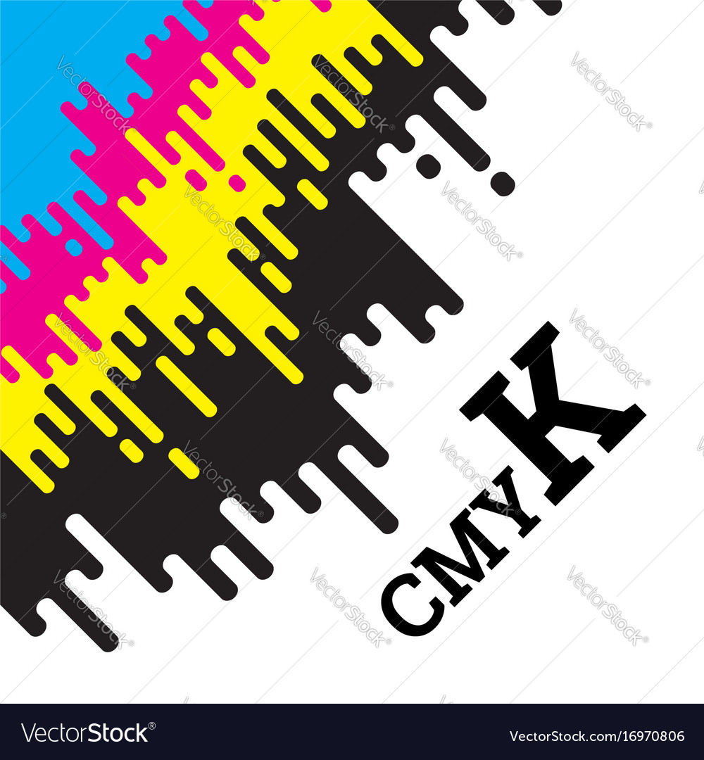 Cmyk concept with rounded irregular lines
