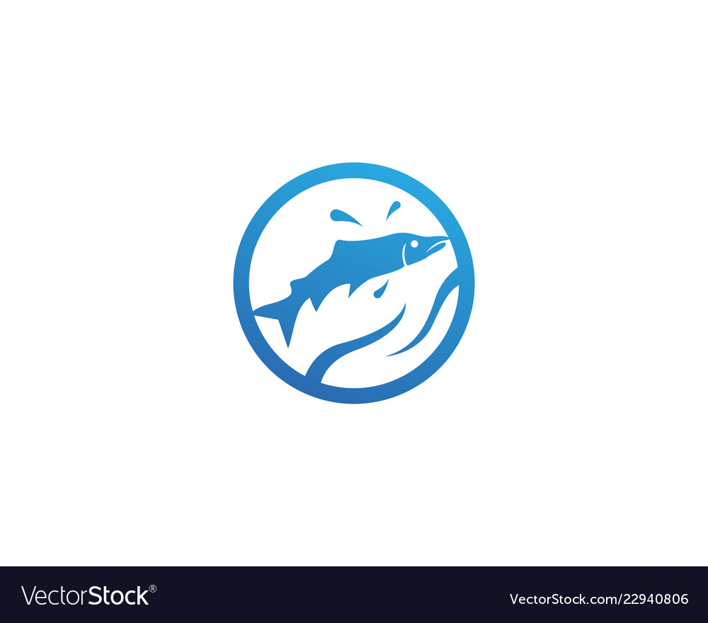Fish silhouette template salmon black