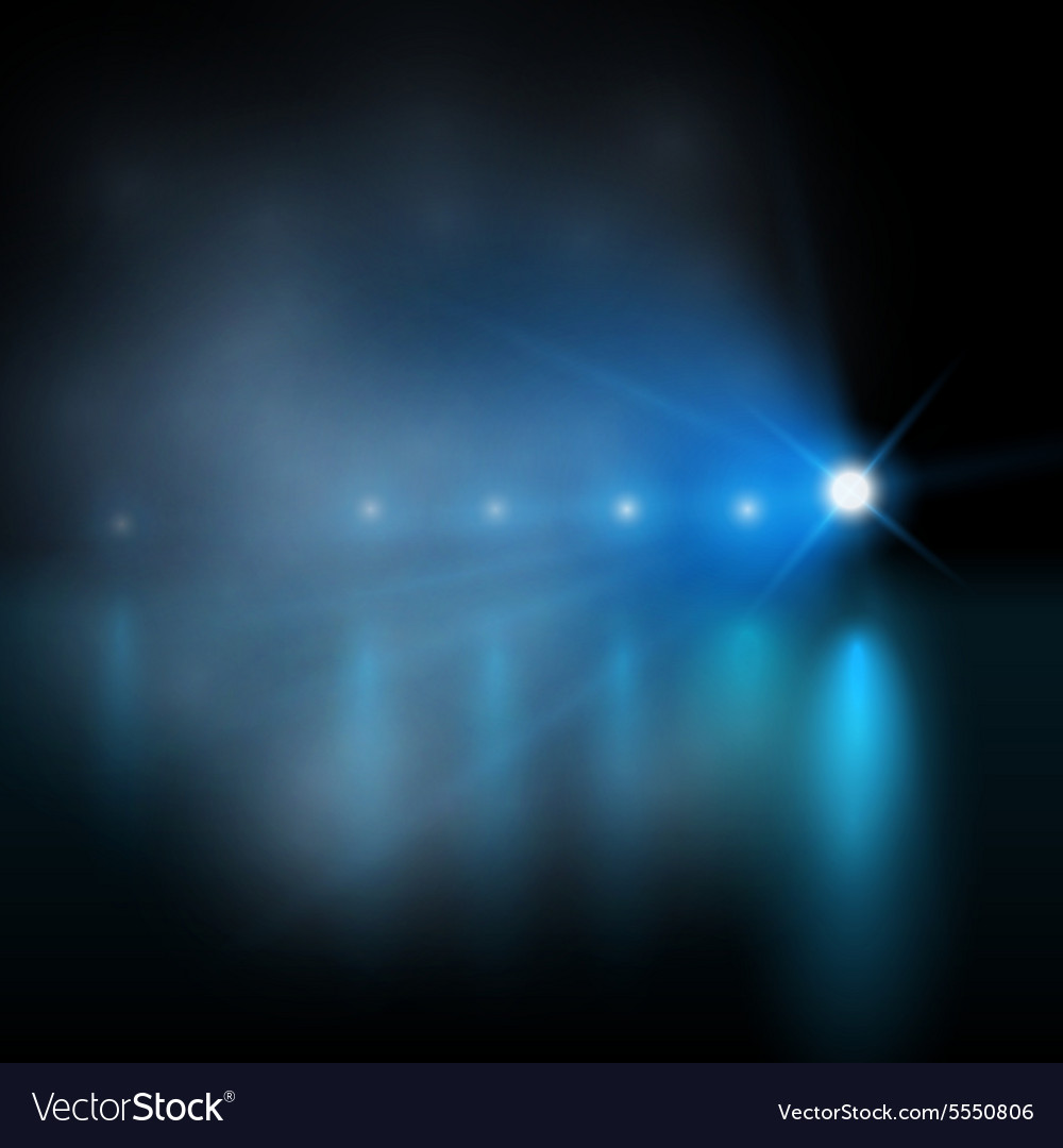 Light show blue