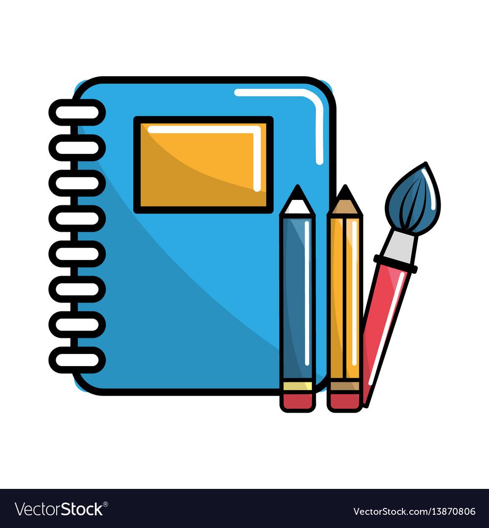 Notebook school tools icon