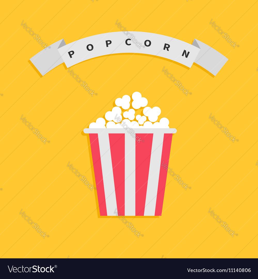 Popcorn box Big round wave white ribbon line with