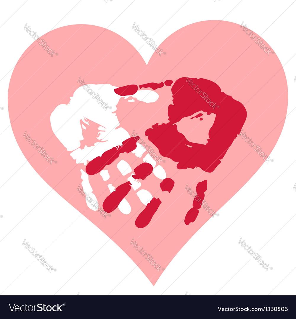 Romantic Valentine postcard