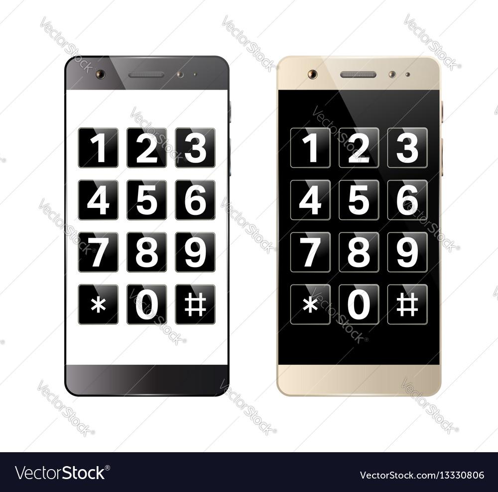 Smartphone with digital keypad