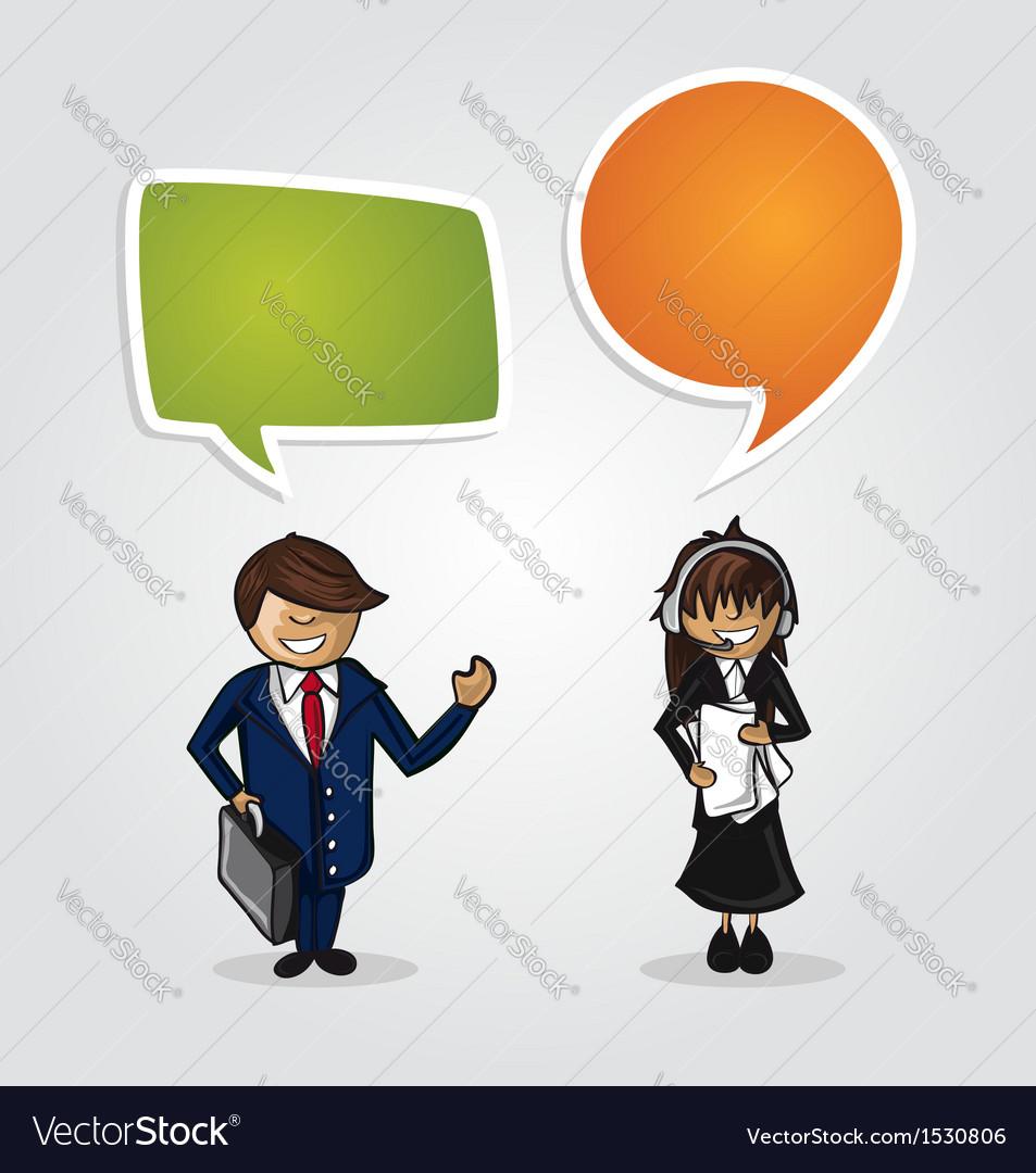 Work group business cartoon people vector image
