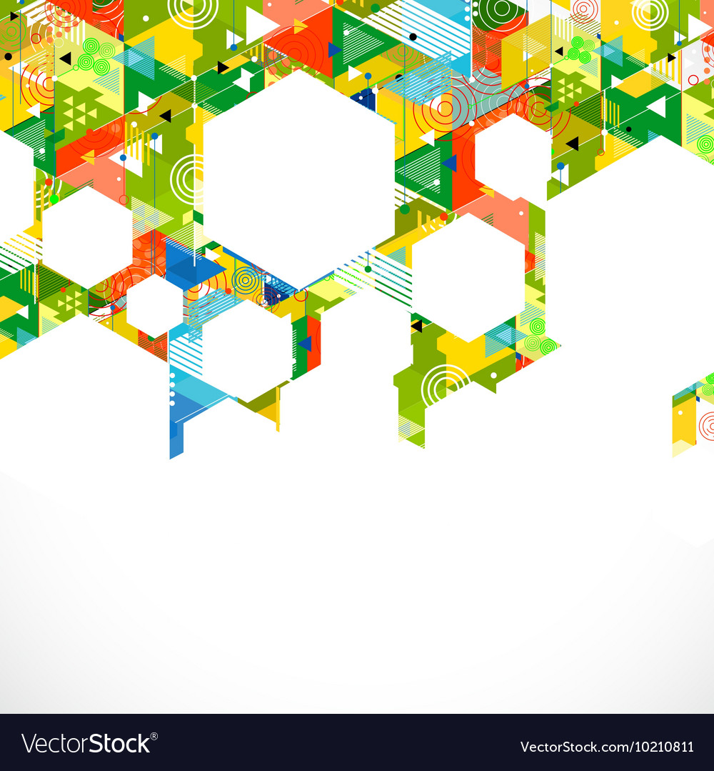 Abstract colorful and creative with geometric