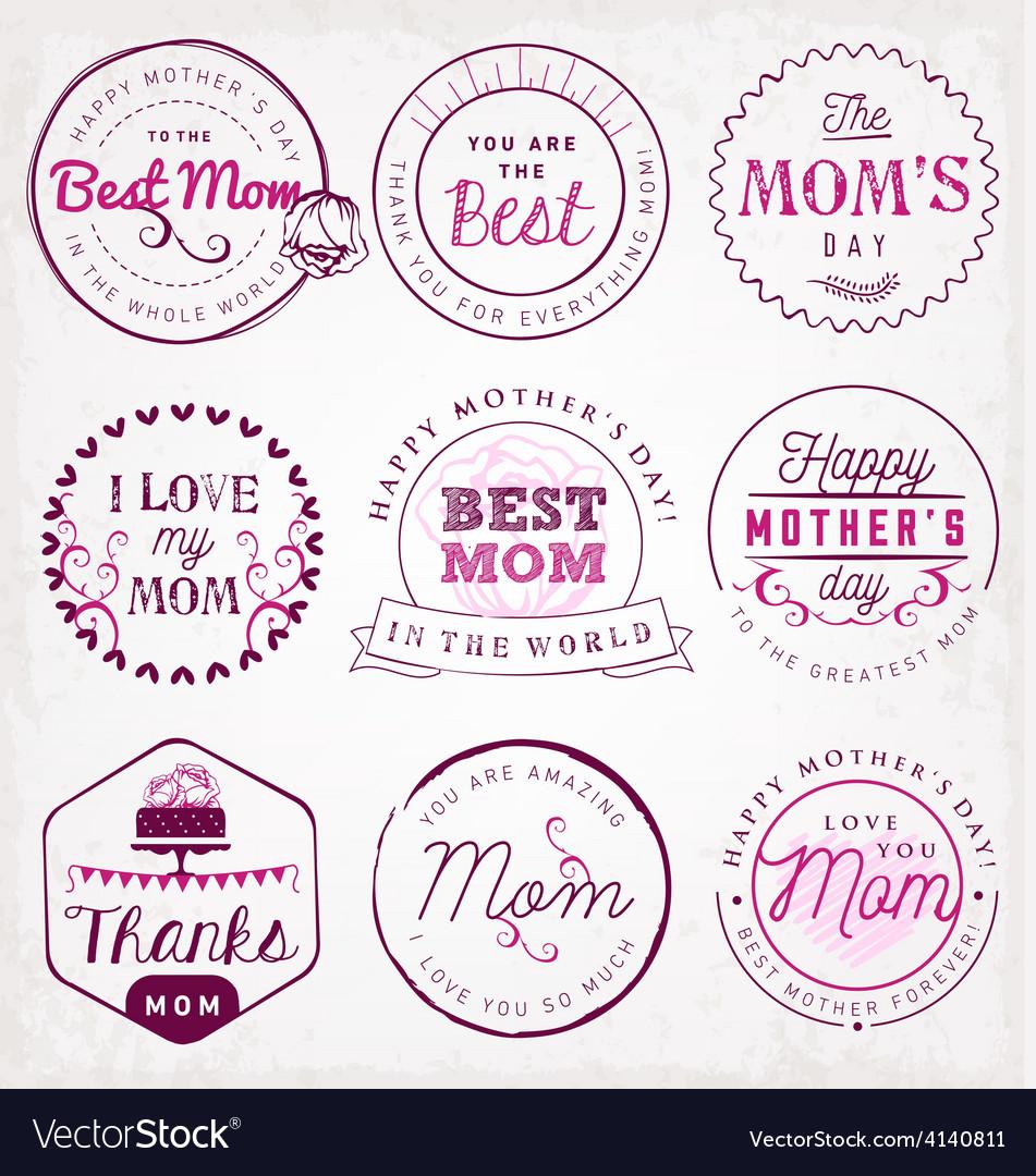 Best Mom Design Elements and Badges