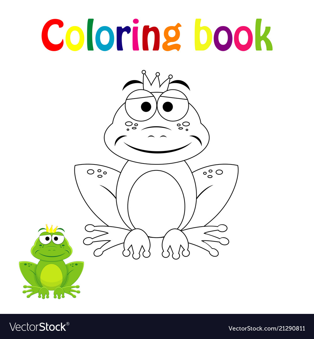 Coloring book page for children with colorfu