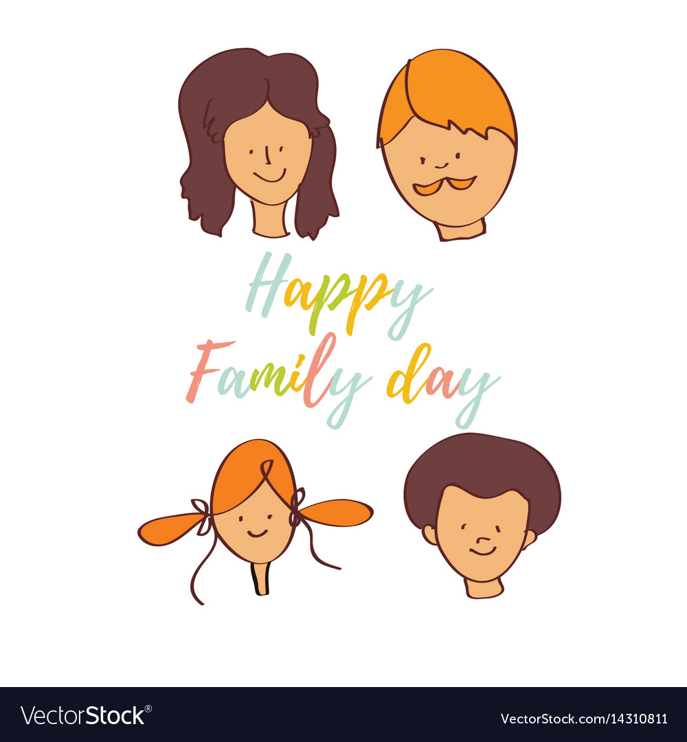 Greeting Card Of The Family Day Royalty Free Vector Image