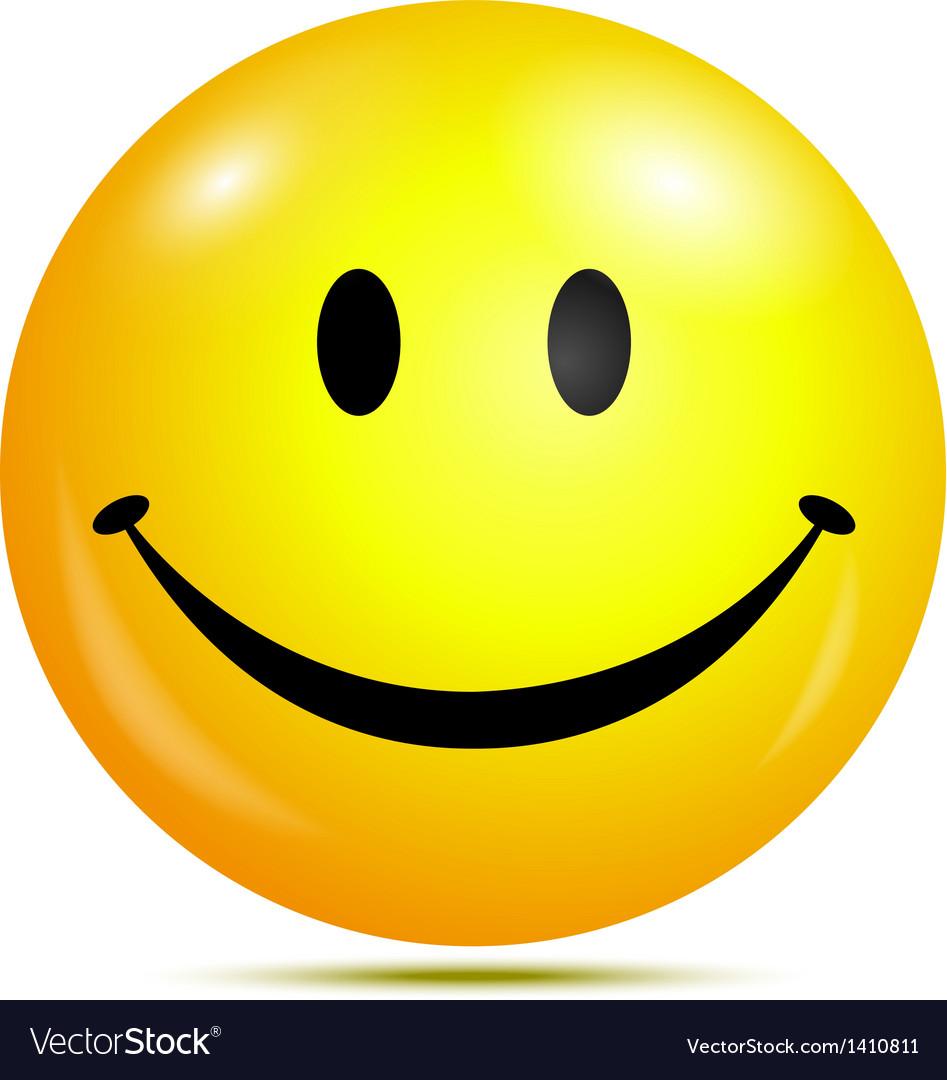 Happy smiley emoticon vector image