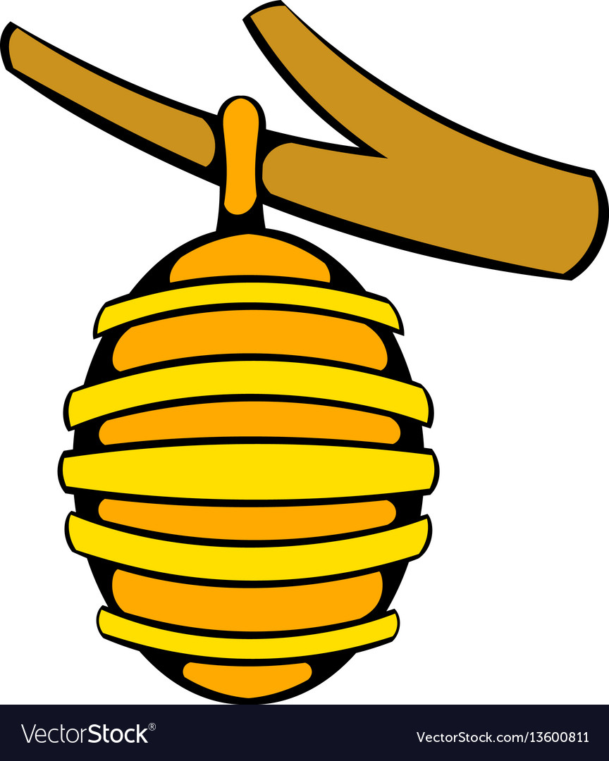 Hive on branch icon icon cartoon vector image