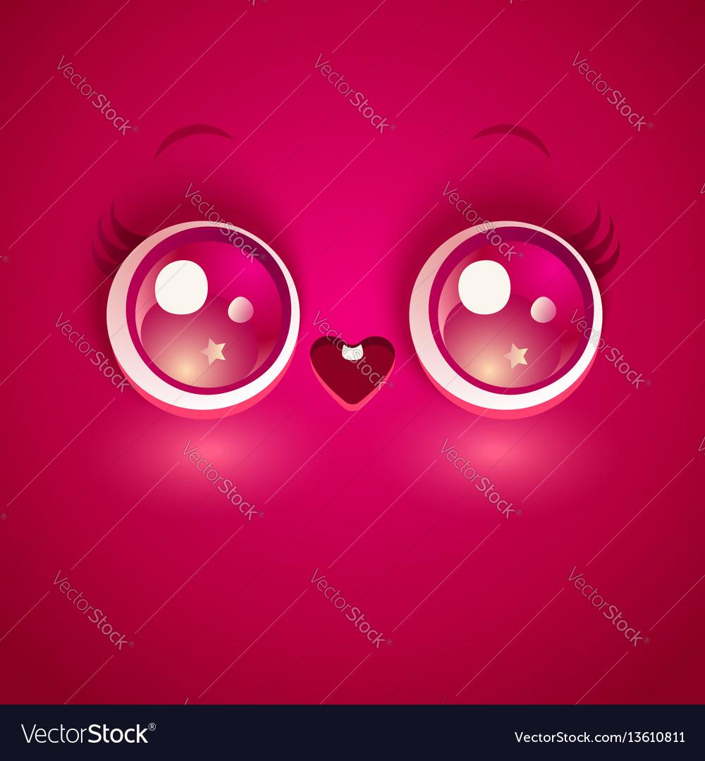 Kawaii love face