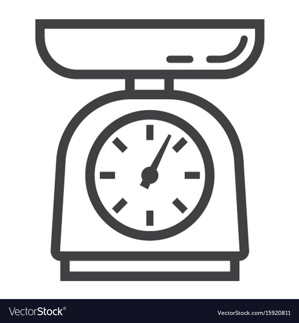 Kitchen scales line icon household and appliance vector image