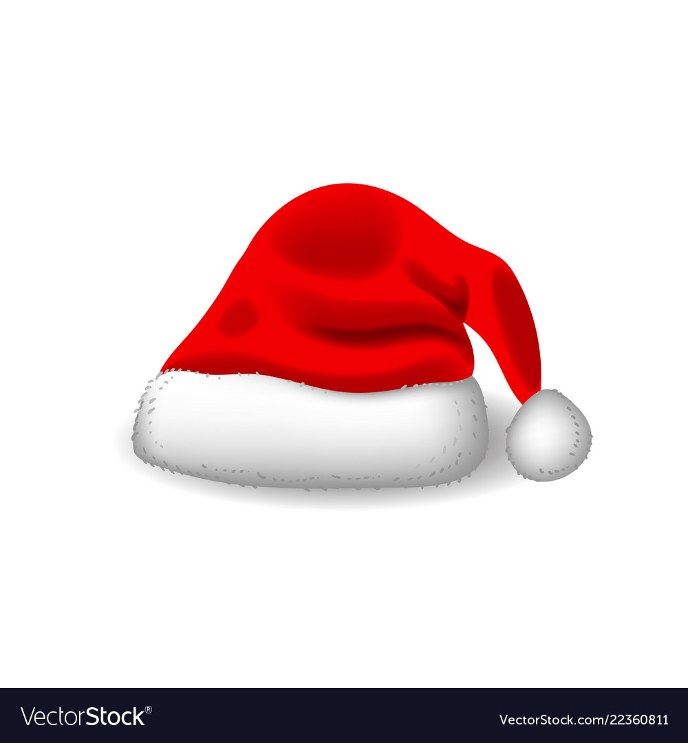 cf63a3e430333 Red santa hat realistic style eps 10 Royalty Free Vector