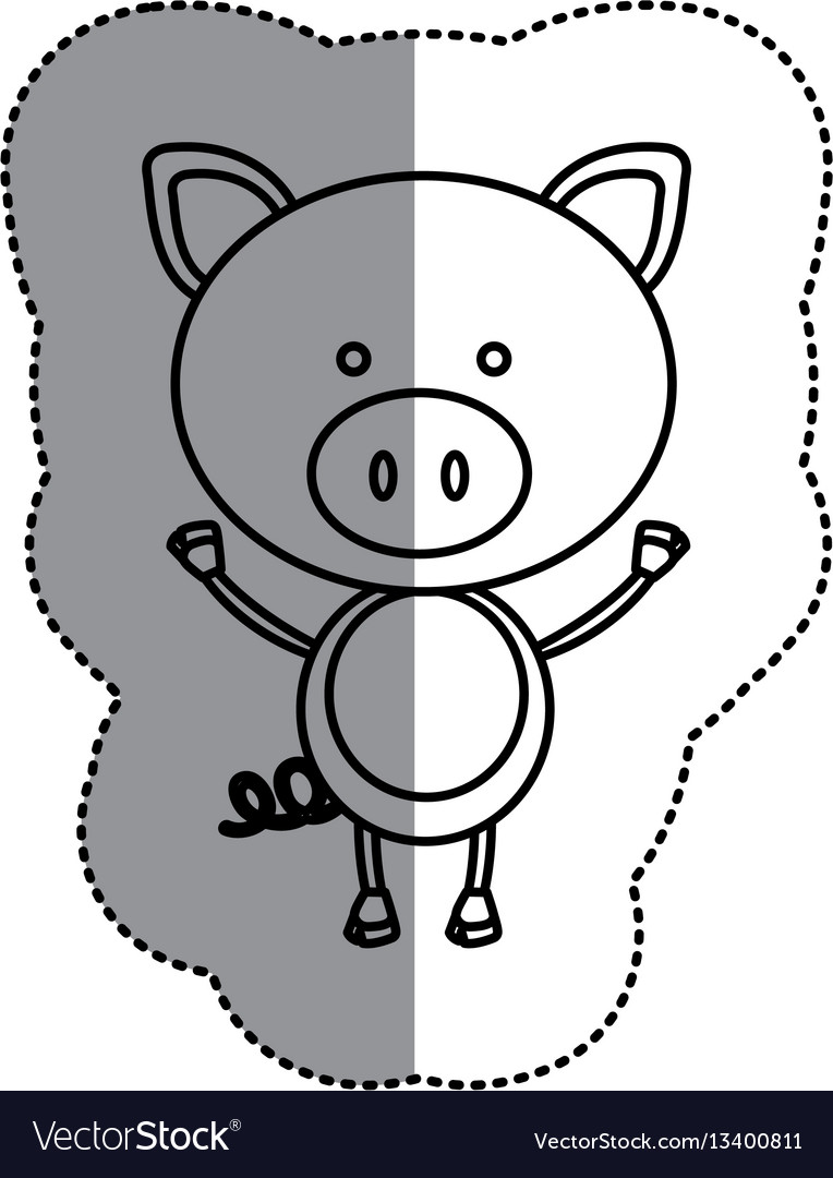 Silhouette teddy pig icon