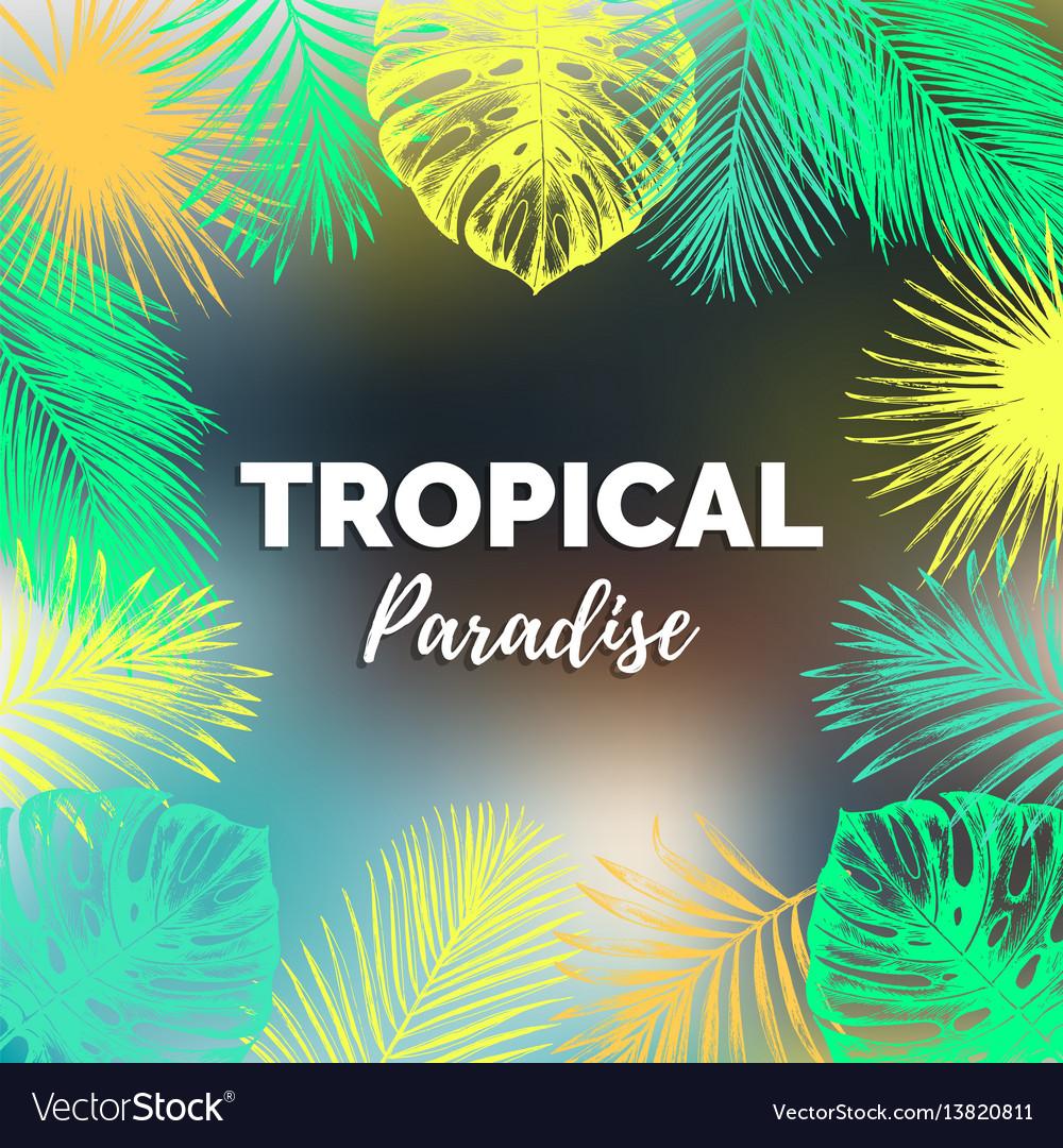 Vintage tropical paradise