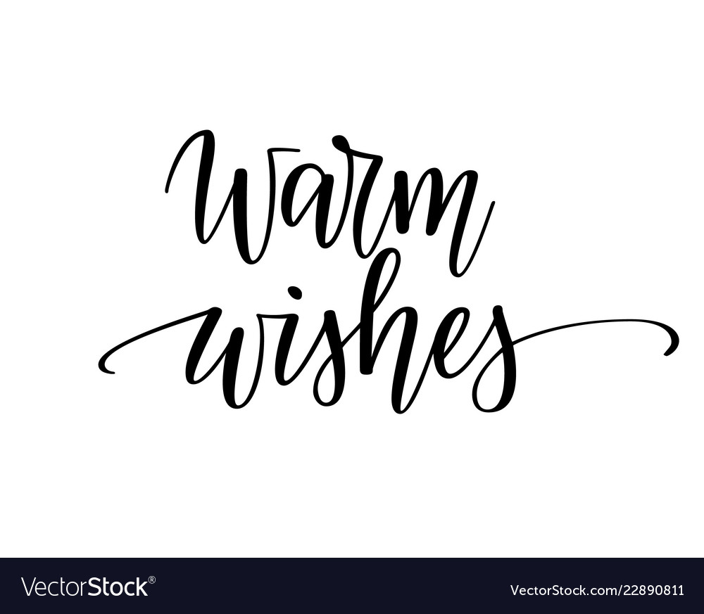 Warm wishes christmas seasonal greeting