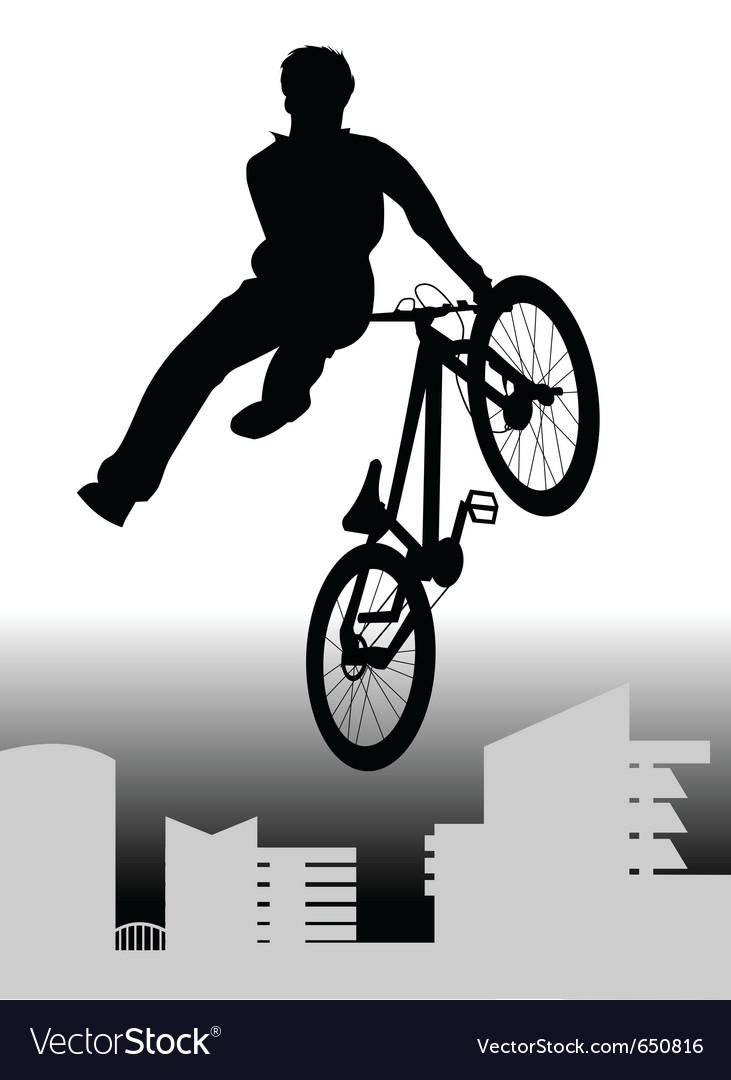 bmx rider royalty free vector image vectorstock
