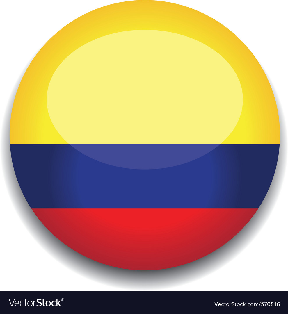 Circle Colombia Flag Vector Images 70