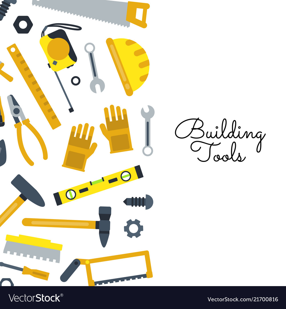 Flat construction tools building elements