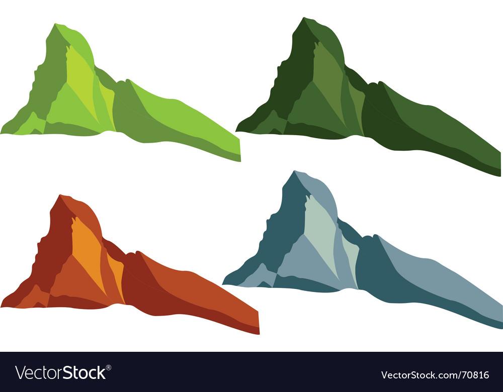 Mountains vector image