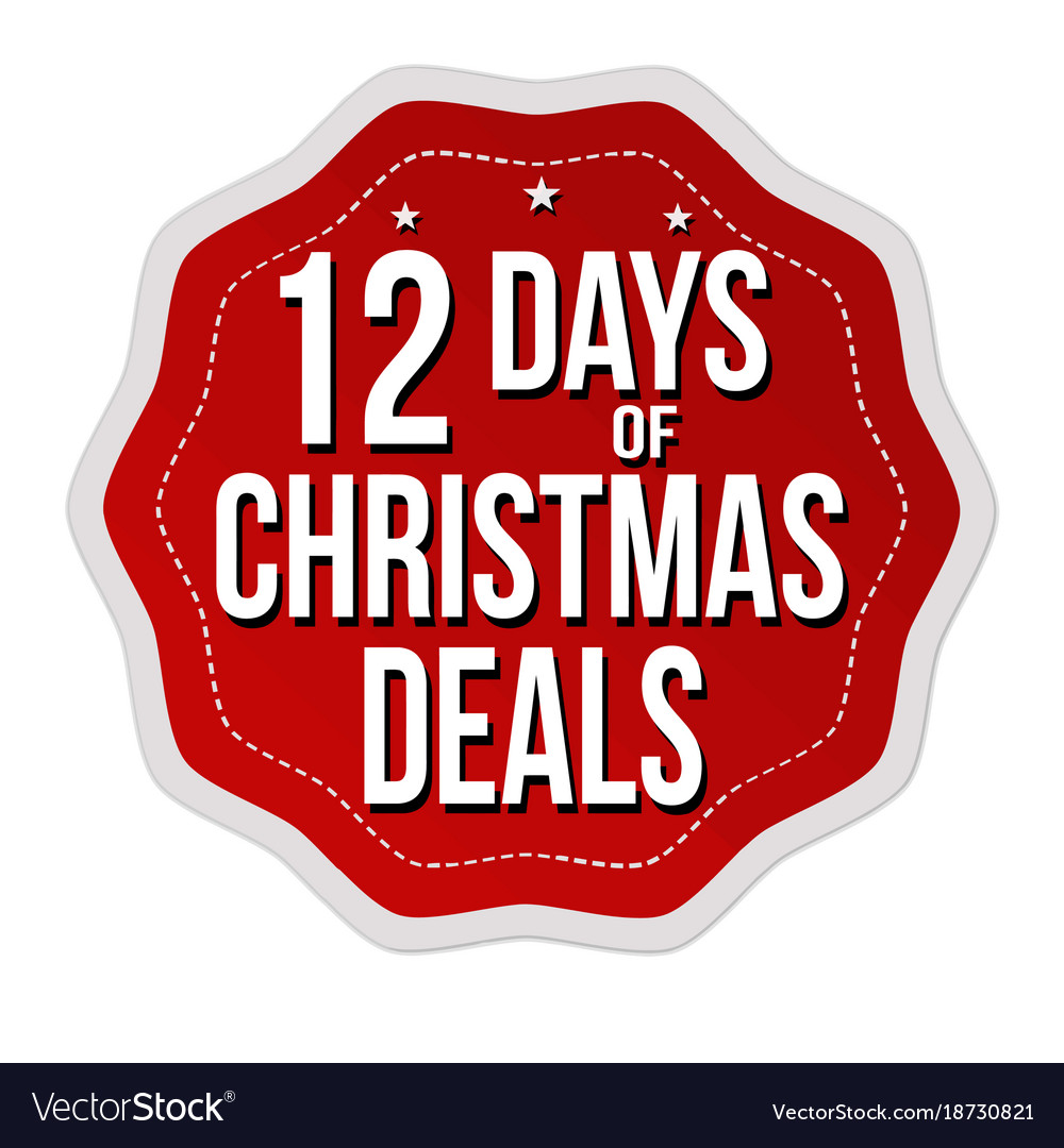 Christmas Deals.12 Days Of Christmas Deals Label Or Sticker