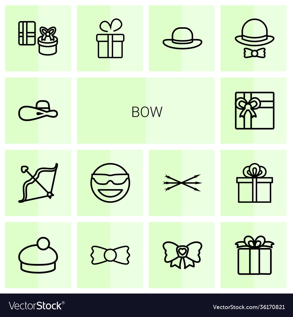 14 bow icons
