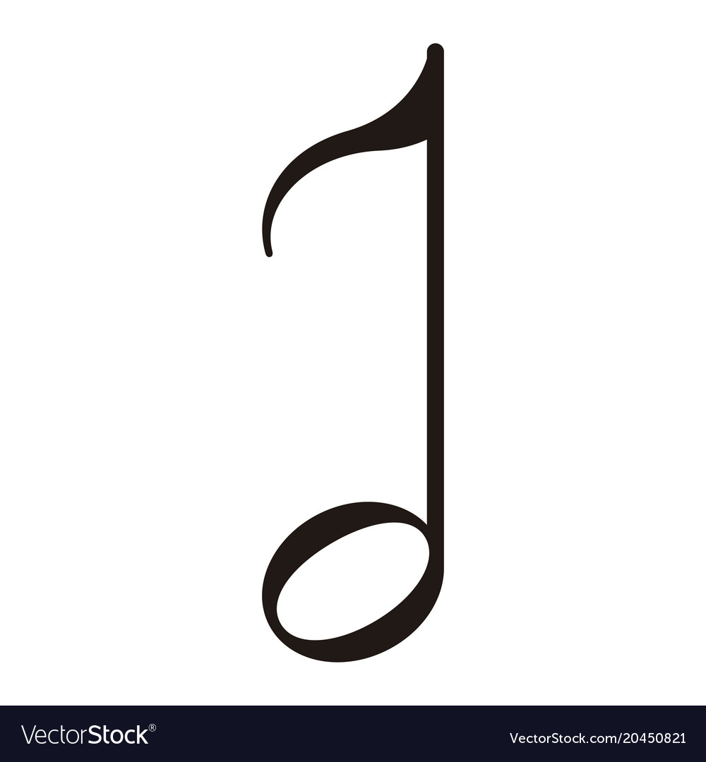 Isolated Eighth Note Musical Note Royalty Free Vector Image