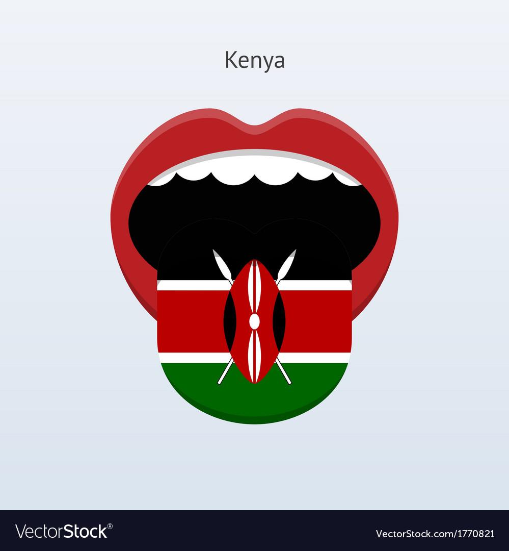 Kenya language Abstract human tongue vector image