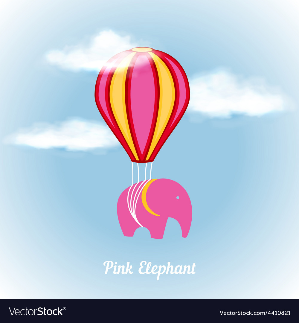 Pink elephant on air