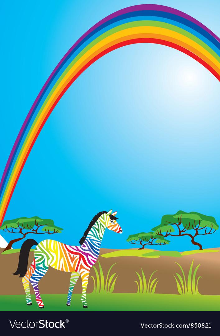 Открытка зебра и радуга чем то похожие