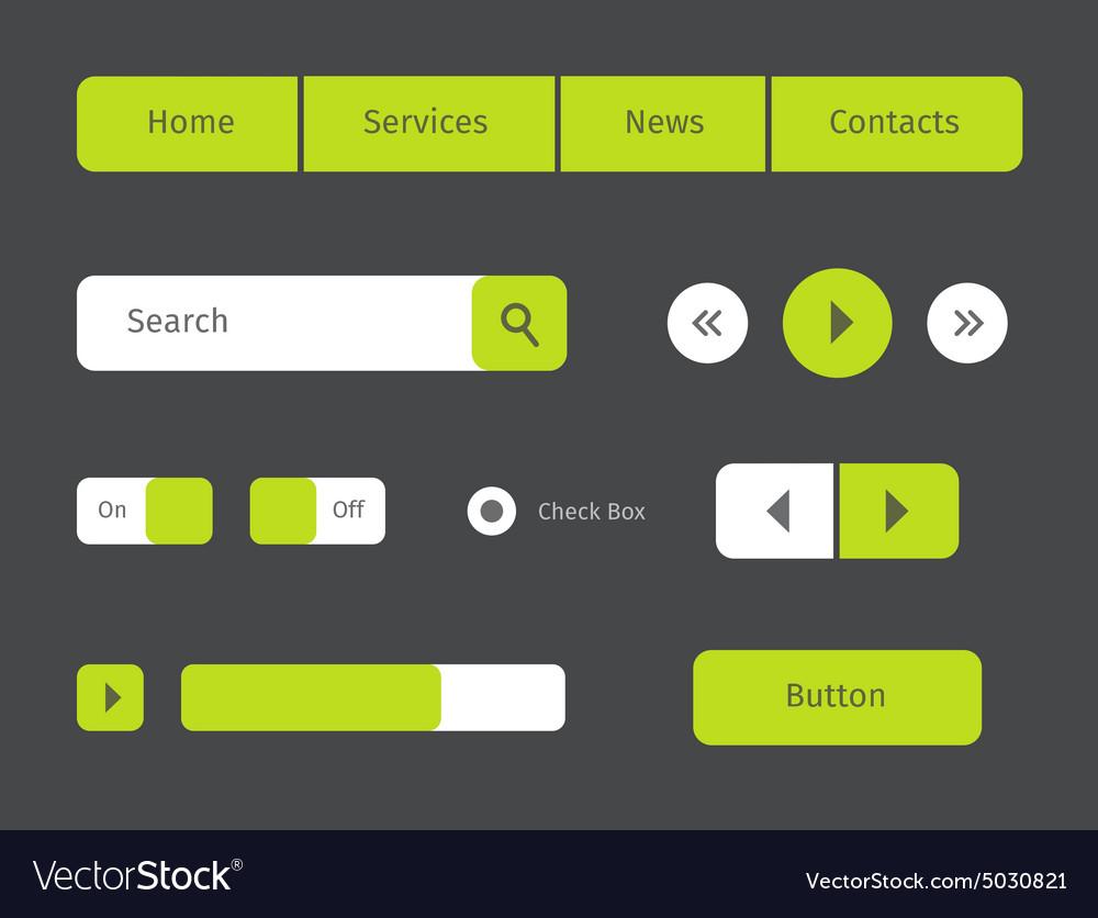 Set green web buttons