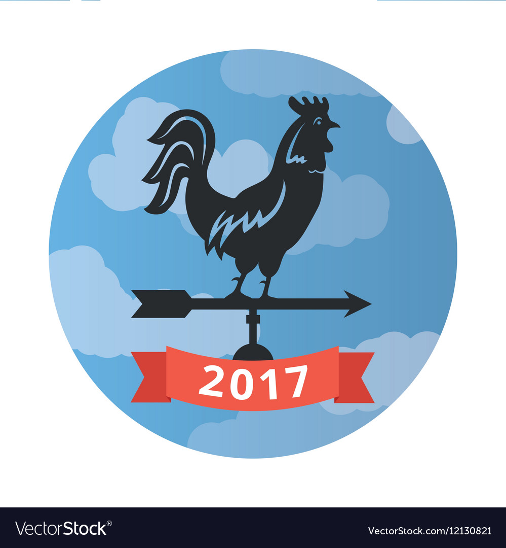 Weathercock New Year of the rooster vector image