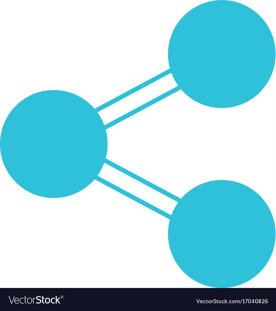 Blue Color Silhouette Of Network Symbol Icon Vector Image On Vectorstock