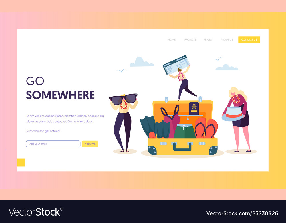 Business character packing baggage for vacation
