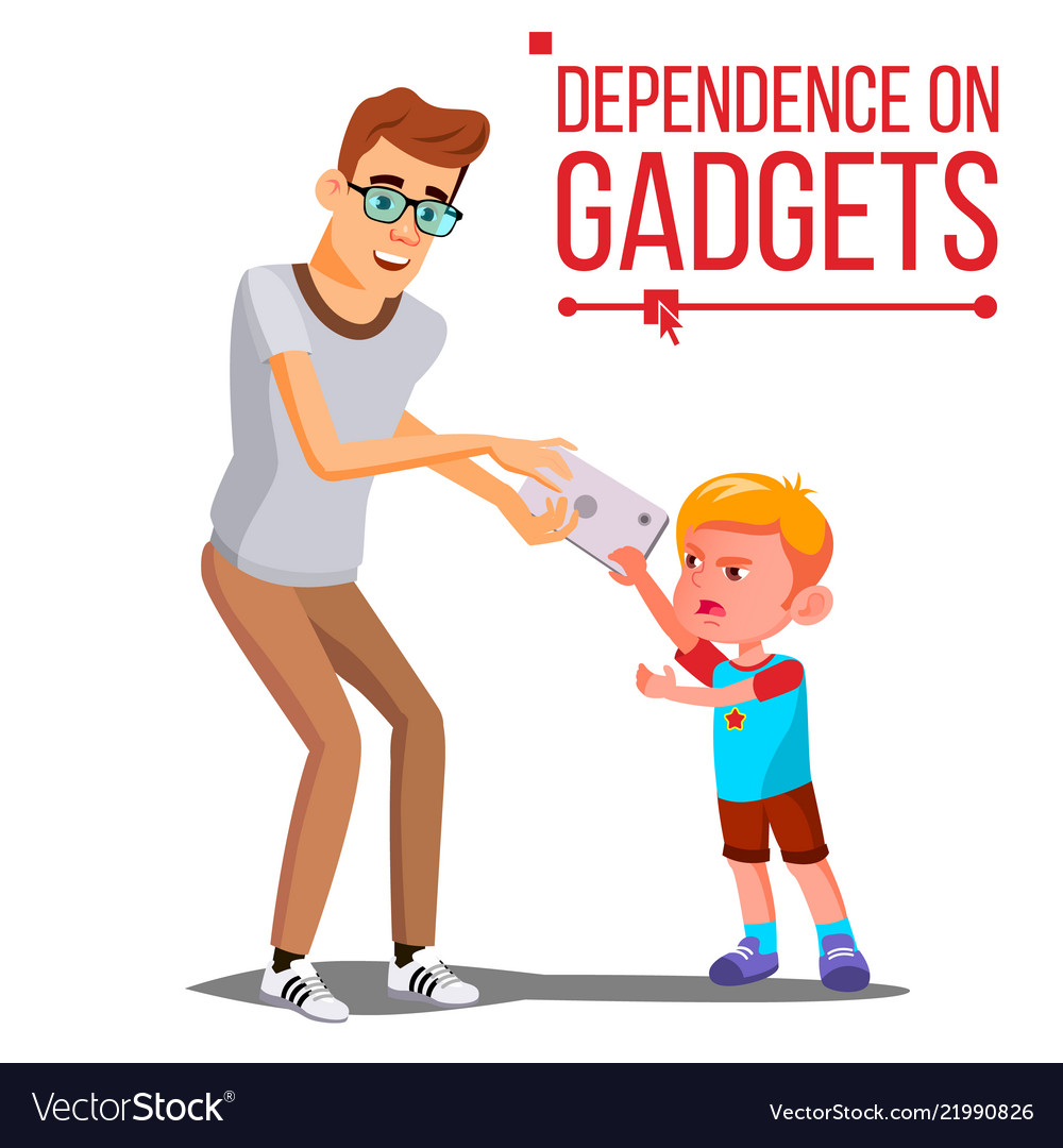 Children s gadget dependence father takes