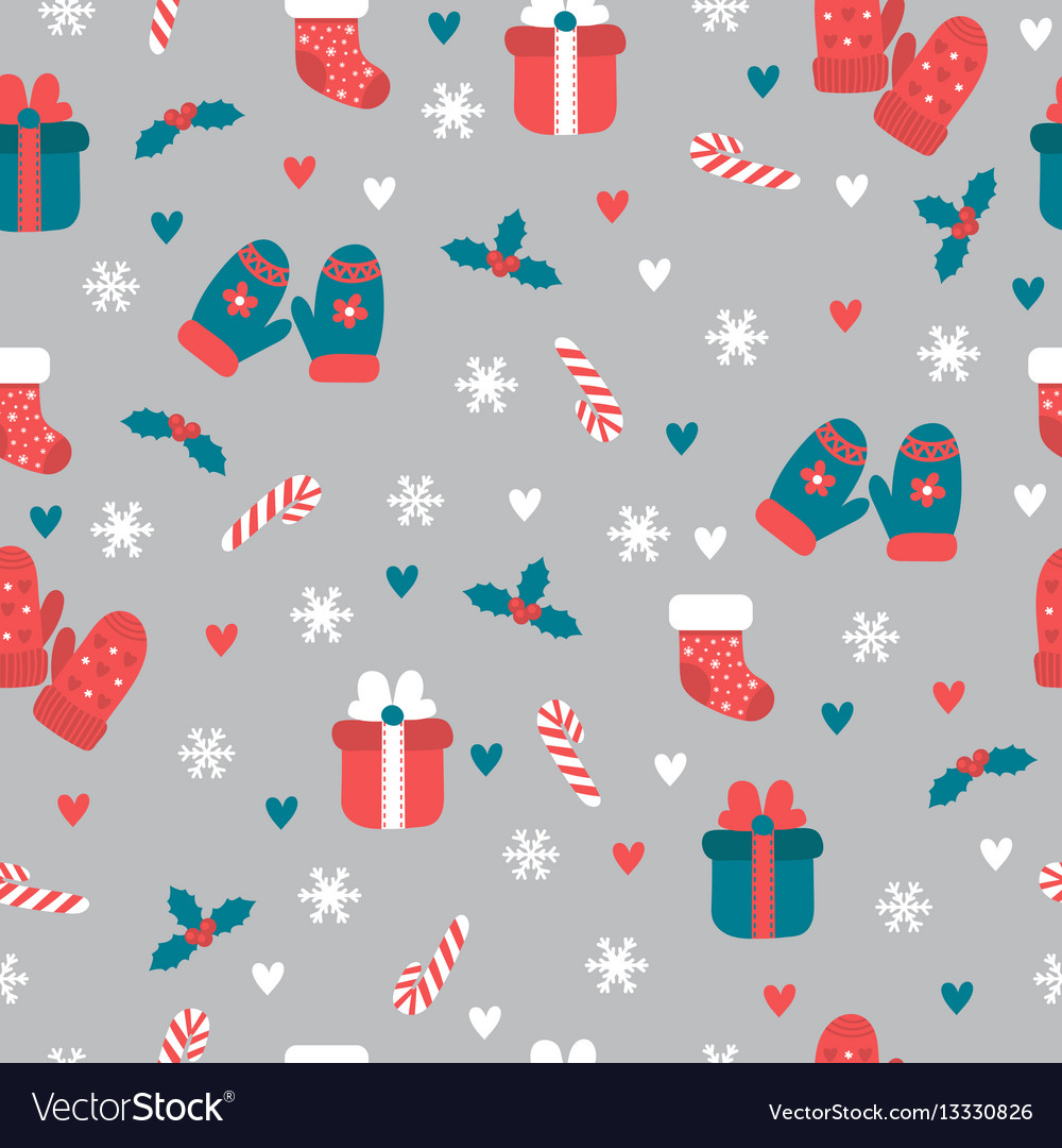 Christmas seamless pattern christmas and new