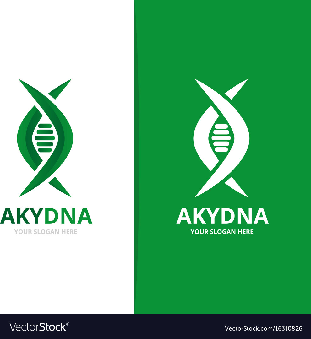 Dna and genetic logo combination