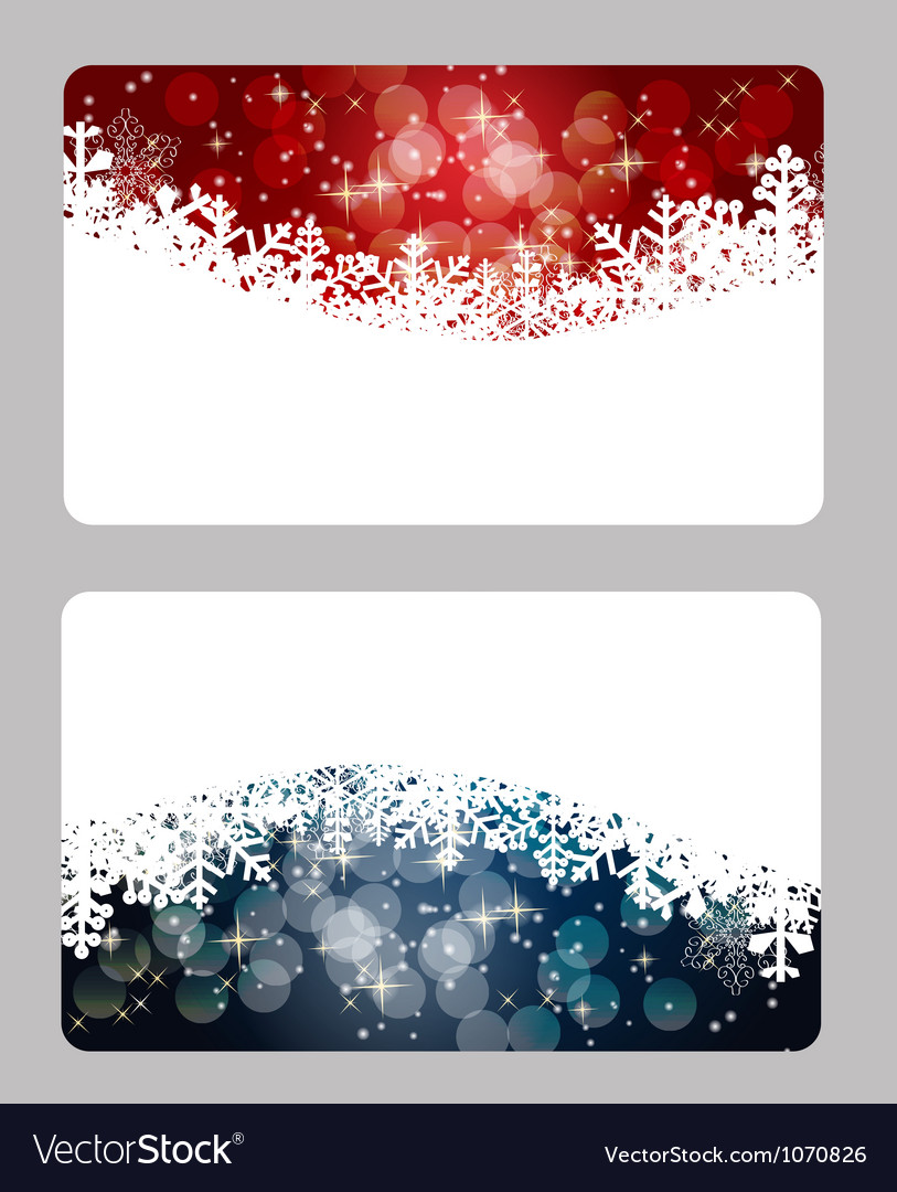 elegant christmas cards template vector image - Elegant Christmas Cards