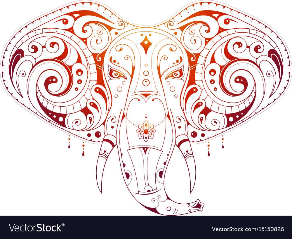 Elephant head ornamental