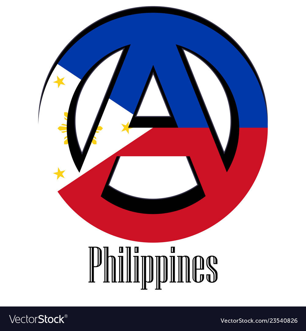 Flag of philippines of the world in the form of a