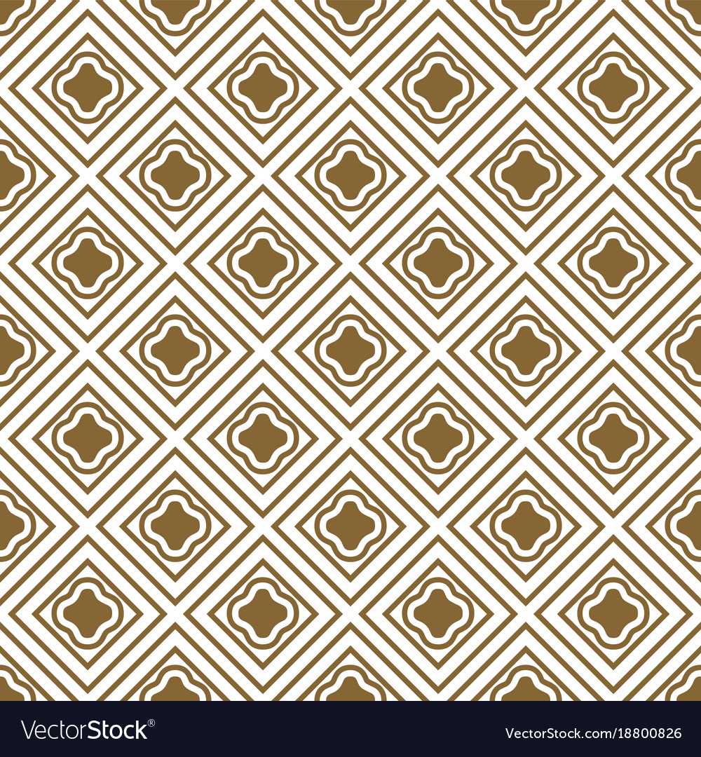 Gold and white rhombs seamless pattern
