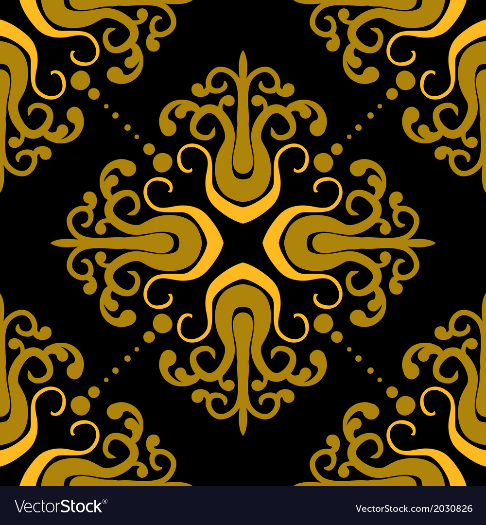 Ornamental pattern with damask motifs vector image