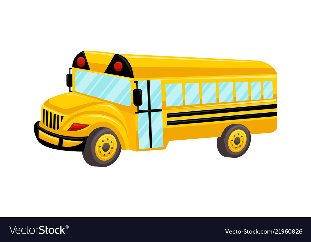 school bus template isolated design royalty free vector