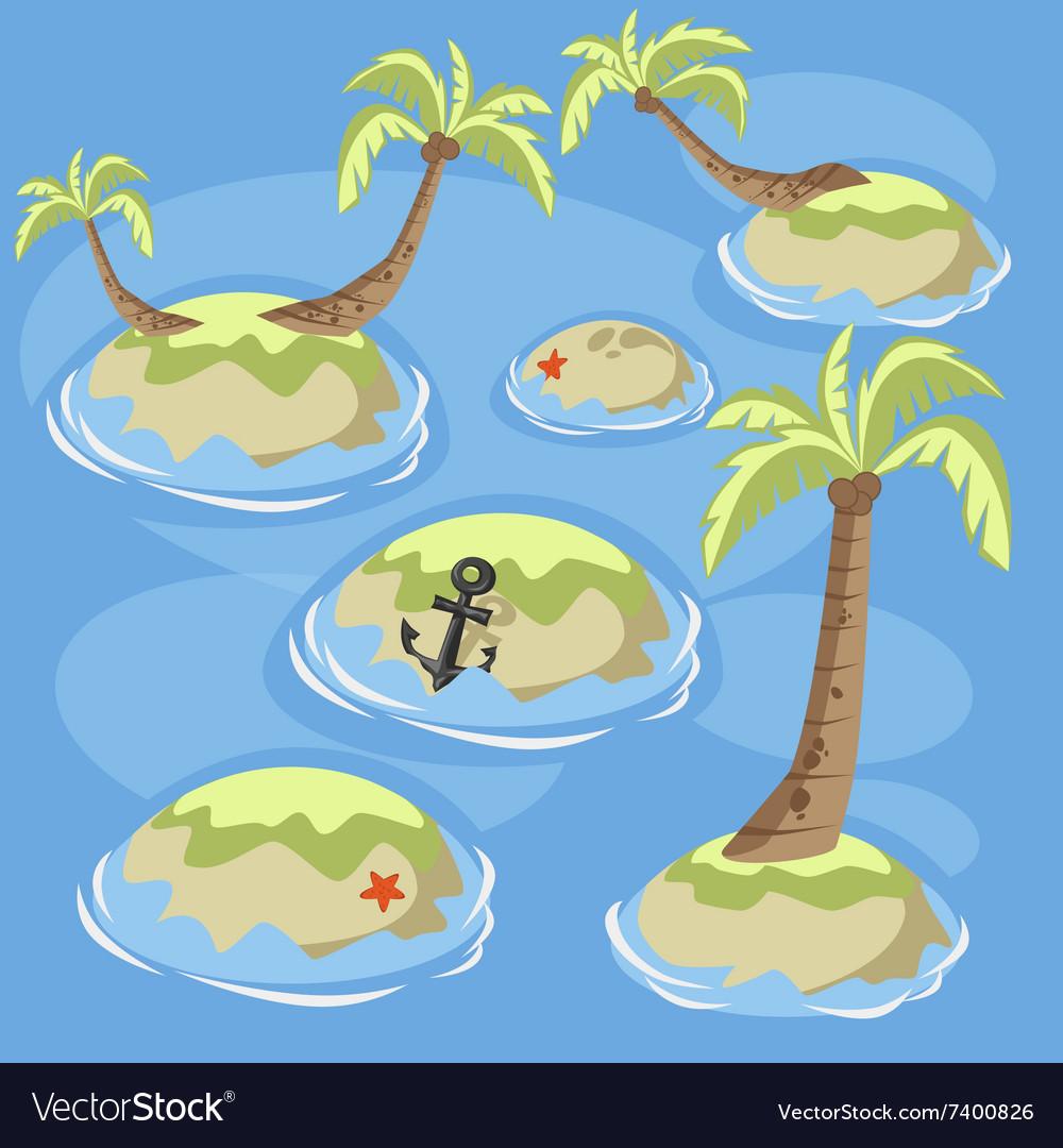 Sea green islands vector image