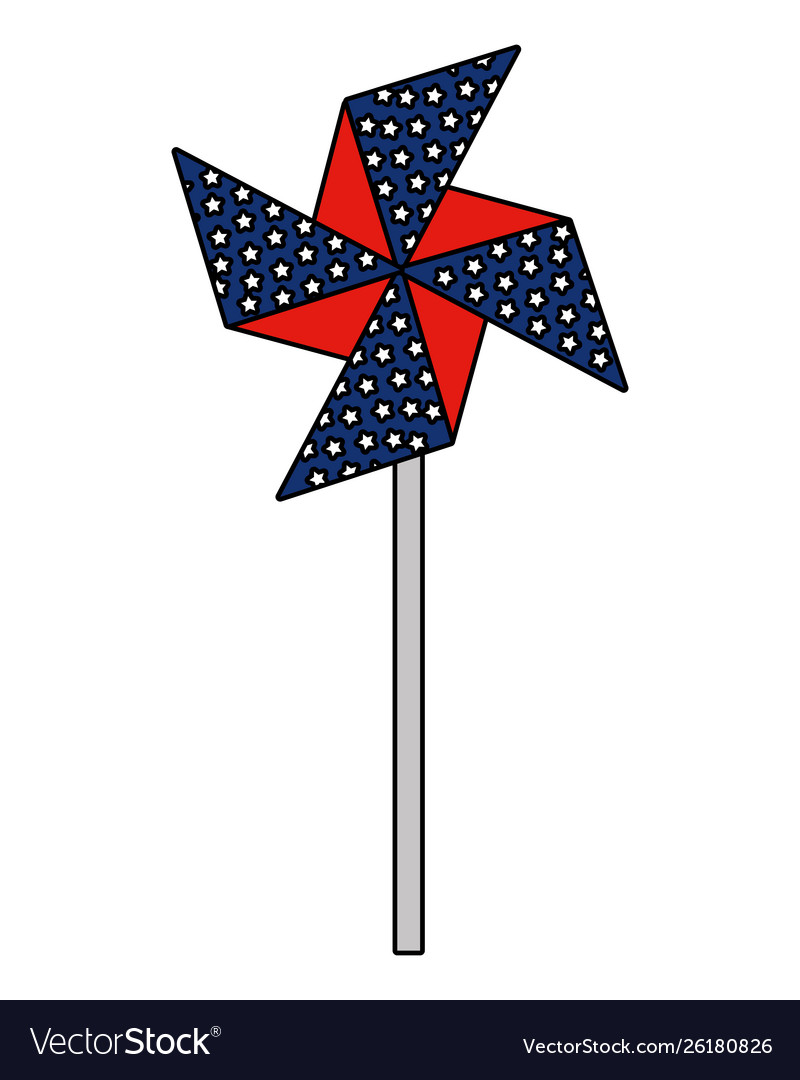 Wind spin toy united states america flag