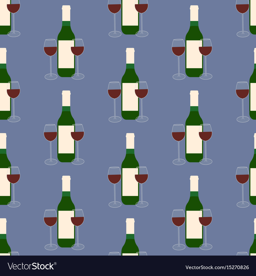 Wine and glasses pattern