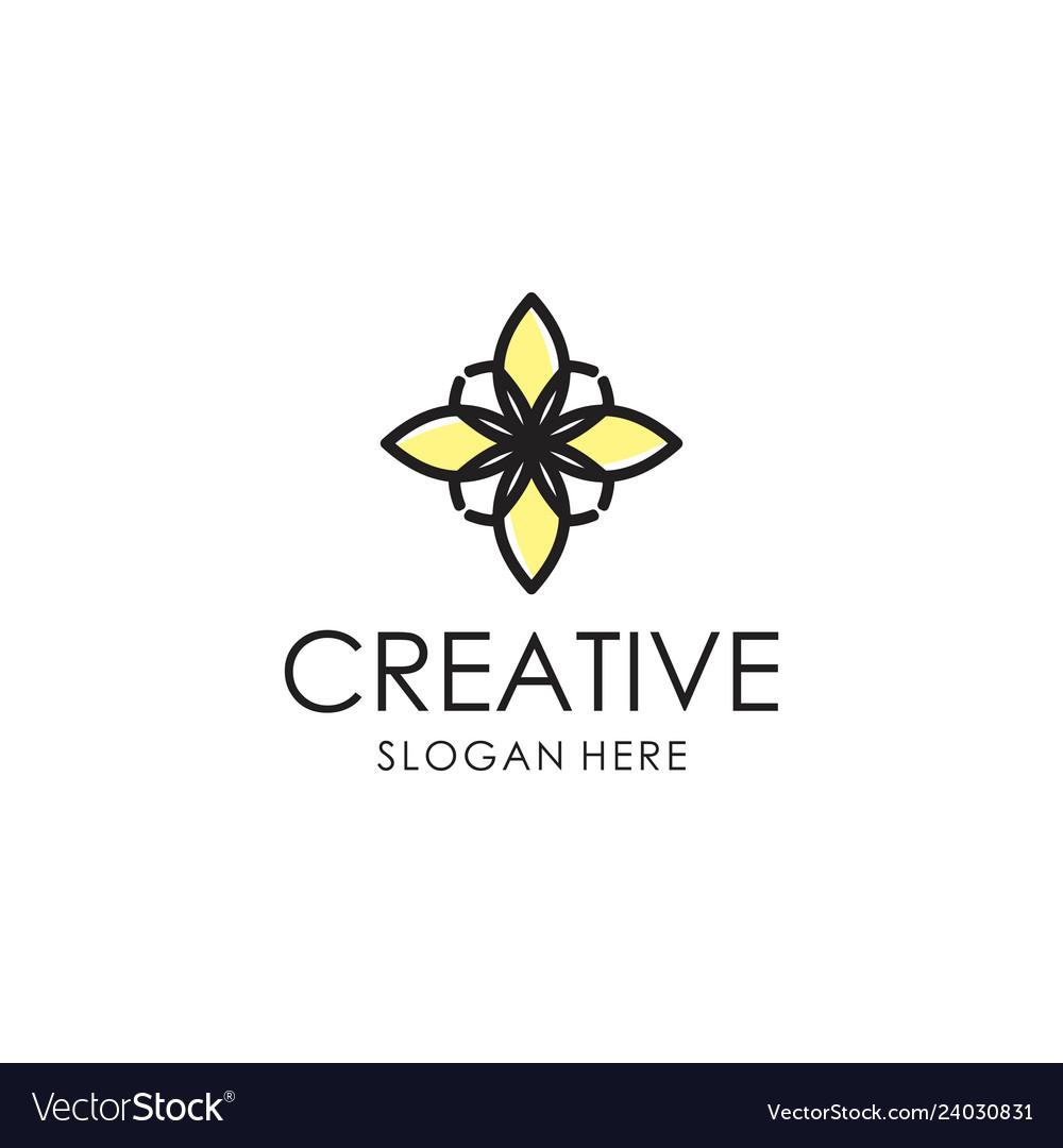 Abstract flower logo design
