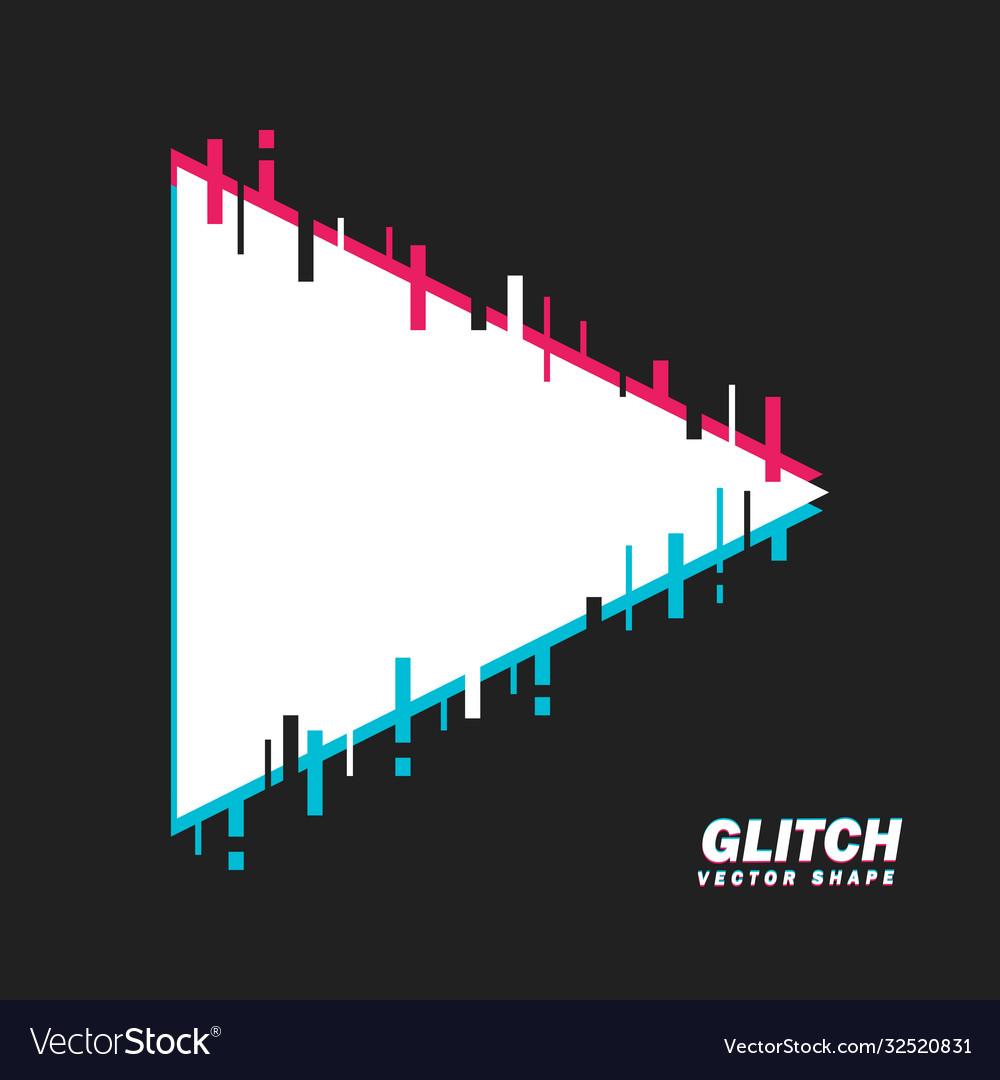 Glitched triangle shape distorted glitch style
