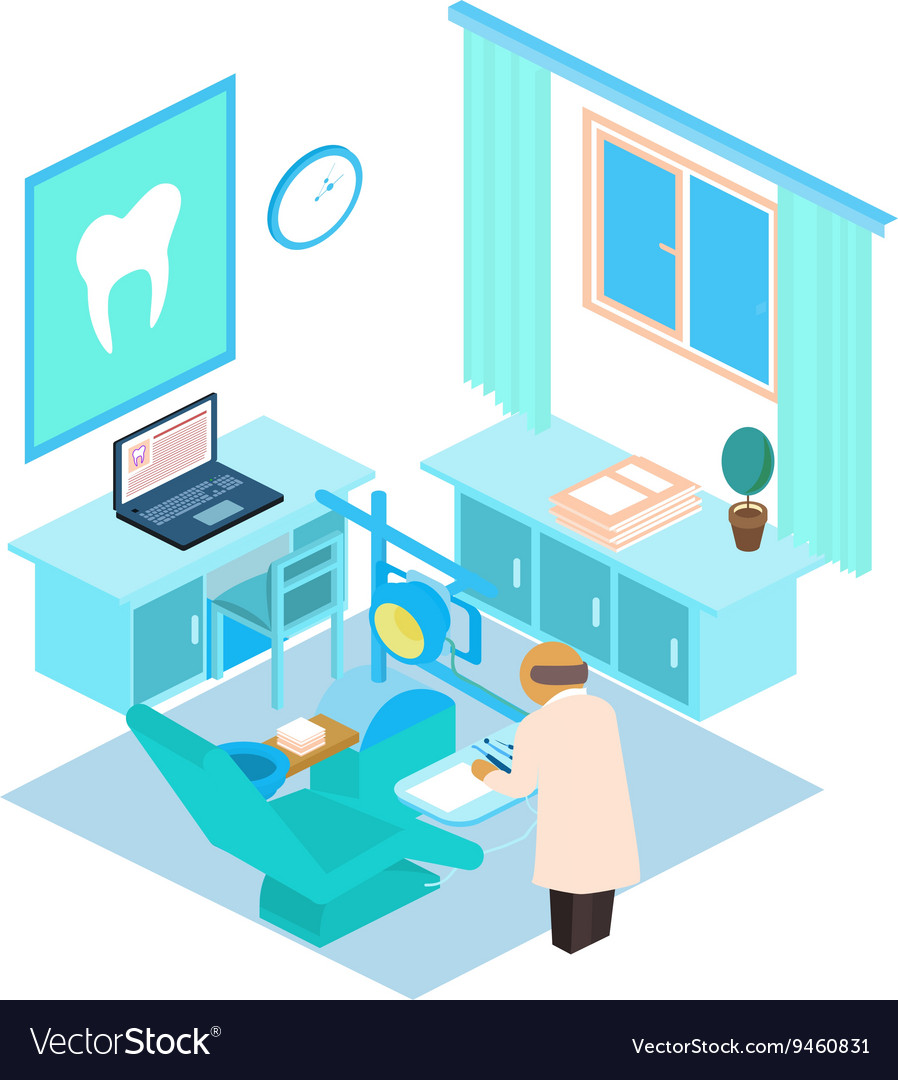 Isometric dental clinic Color